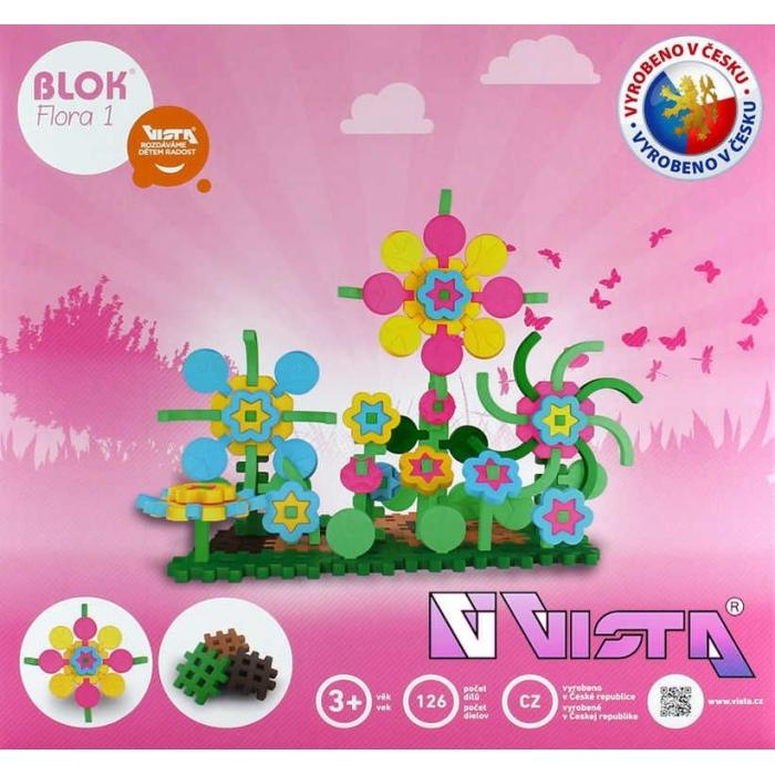 VISTA BLOK FLORA 1 plastová STAVEBNICE 126 dílků