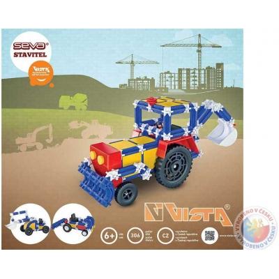 VISTA SEVA STAVITEL Traktor Bagr polytechnická STAVEBNICE 306 dílků