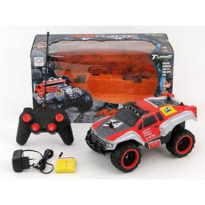 RC Jeep auto terénní na vysílačku 30cm na baterie Světlo plná funkce v krabici
