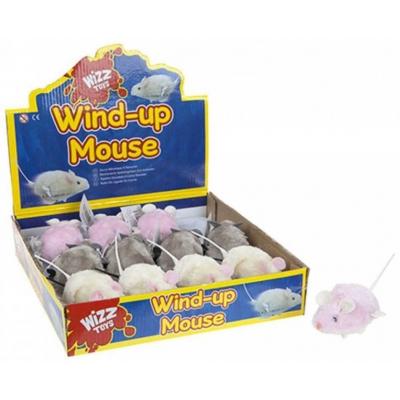 Myška plyšová na natažení 9cm na klíček různé barvy plast