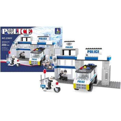 AUSINI Stavebnice kostky policejní stanice Policie Set v krabici 286 dílků