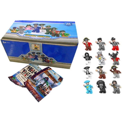 AUSINI Stavebnice figurka pirát 12 druhů Plastová postavička 6 cm