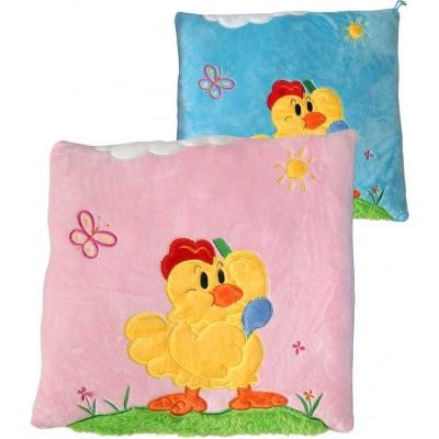 PLYŠ Polštářek kuřátko 33x33cm 2 barvy *PLYŠOVÉ HRAČKY*