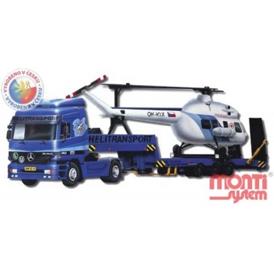 MONTI SYSTÉM 58 Auto Mercedes Astros HELITRANSPORT MS58 0109-58