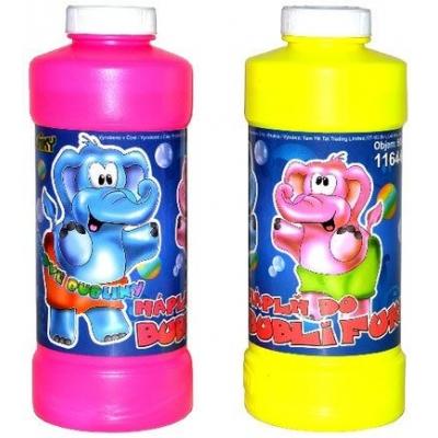 Náhradní náplň do bublifuku 500 ml (0,5 litru) plastová láhev 2 barvy