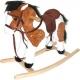 Kůň (koník) houpací plyšový na baterie se zvukem
