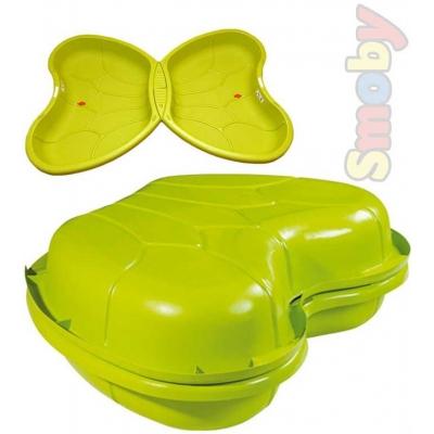 SMOBY Dětské plastové pískoviště bazének zelený motýlek 2 v 1