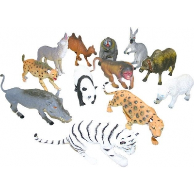 Zvířata divoká jednotlivá 17-26 cm figurky 12 druhů