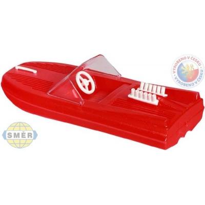 SMĚR Člun Na vodu motorový Červený PLAST