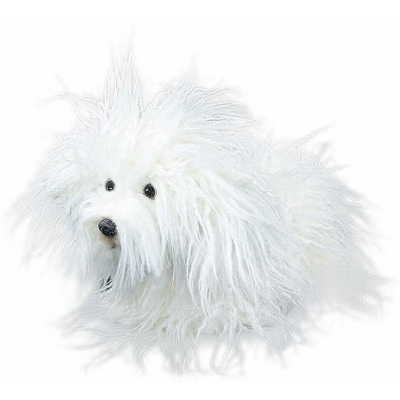 PLYŠ Pes Puli teriér bílý 27cm pejsek *PLYŠOVÉ HRAČKY*