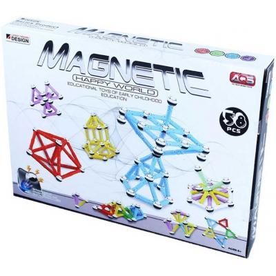 Stavebnice magnetická 3D 58 dílků v krabici
