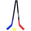 Hokejka plastová dětská 72cm set 2ks s pukem