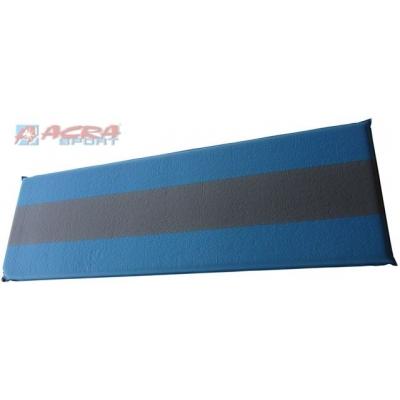 ACRA Karimatka samonafukovací modrá šedý pruh 198 x 62,5 x 5 cm
