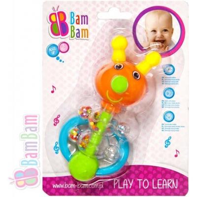 ET BAM BAM Chrastítko plastové BROUČEK pro miminko