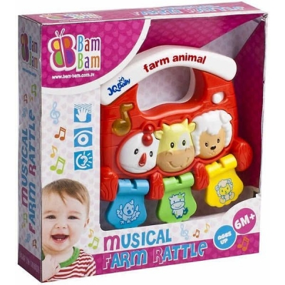 ET BAM BAM Chrastitko Zvířátka hudební Zvuk BABY