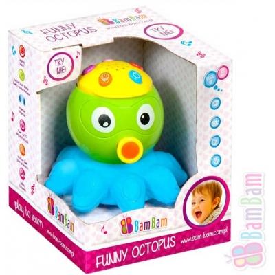 ET BAM BAM Chobotnice dětský baby projektor s ukolébavkou hvězdná obloha Zvuk