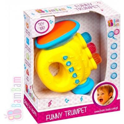 ET BAM BAM Trumpeta zábavná plastová s melodiemi pro miminko Zvuk