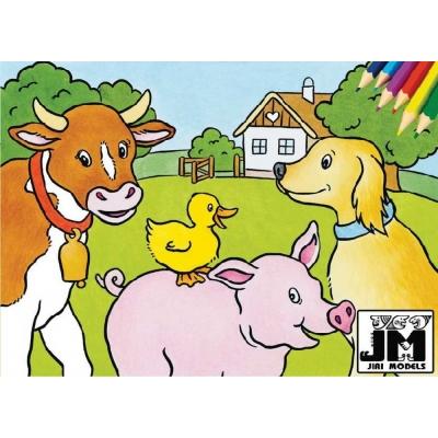JIRI MODELS Omalovánky A5 Domácí zvířata
