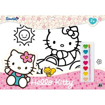 JIRI MODELS Omalovánky set s barvami A3 Hello Kitty