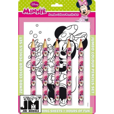 JIRI MODELS Pastelky maxi set Minnie Mouse omalovánky