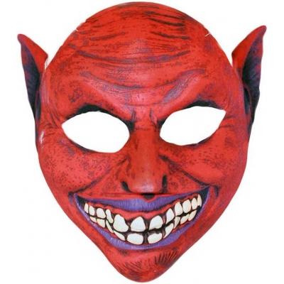 986599b0fad KARNEVAL Maska čerta červená textilní pro dospělé KARNEVALOVÝ DOPLNĚK