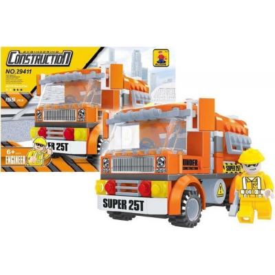 AUSINI Stavebnice STAVBA Auto stavební 155 dílků + 1 figurka plast