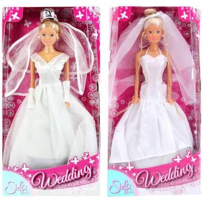 SIMBA Steffi nevěsta panenka svatební šaty 2 druhy
