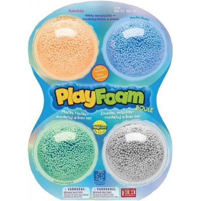 Boule PlayFoam 4pack pěnová modelína