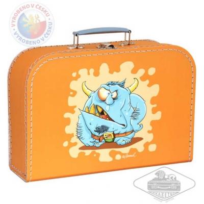 KAZETO Kufr dětský příšerky oranžový střední kufřík