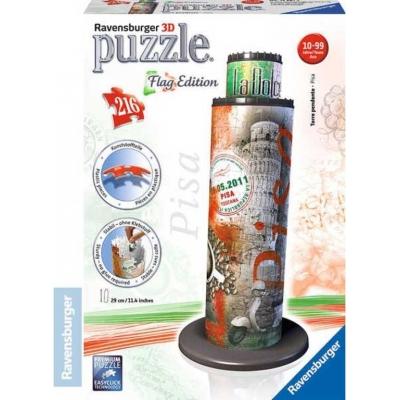 RAVENSBURGER Puzzle 3D Šikmá věž 216 dílků vlajková edice