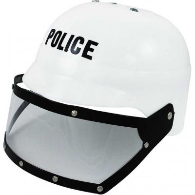 KARNEVAL Helma policejní dětská zásahová bílá KARNEVALOVÝ DOPLNĚK