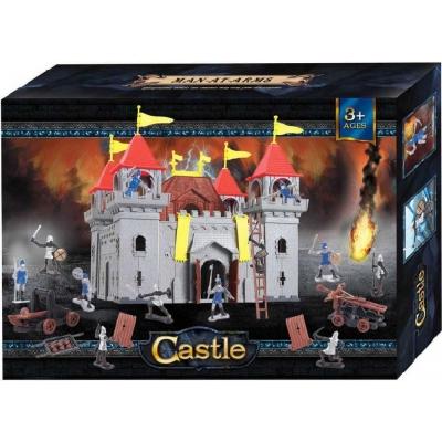 Hrad plastový stavebnice skládací set s figurkami a doplňky v krabici