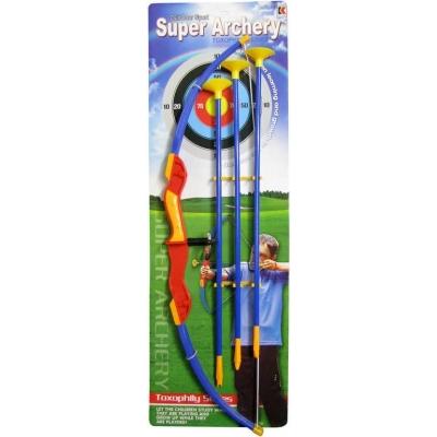 MAC TOYS Luk dětský plastový set se 3 šípy s přísavkami