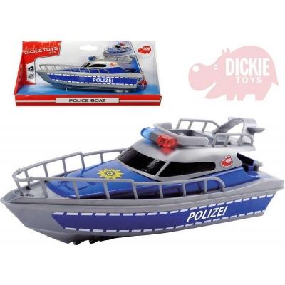 DICKIE Člun 30cm plastový policejní loďka na baterie
