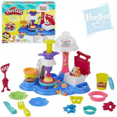 HASBRO PLAY-DOH Modelína párty dort set s troubou, zdobítky a doplňky