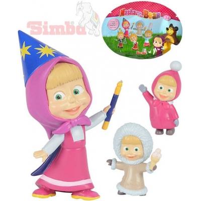 SIMBA Figurka panenka plastová s doplňkem Máša a medvěd 12 druhů v sáčku