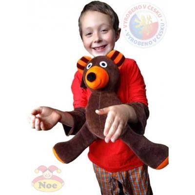NOE PLYŠ Medvěd znakovací navlékací s popruhy znaková řeč