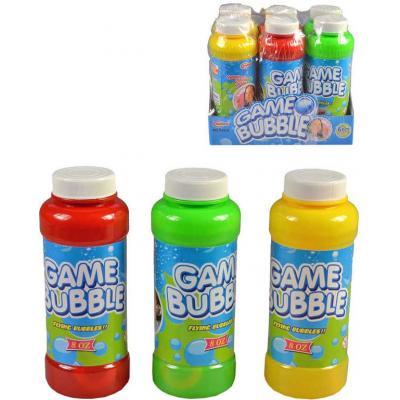 Náhradní náplň bublifuk 236ml plastová láhev s foukátkem 3 barvy