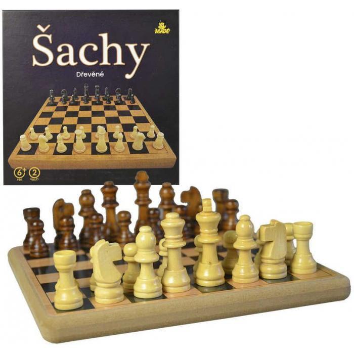 DŘEVO Šachy dřevěné 21x21cm *SPOLEČENSKÉ HRY*