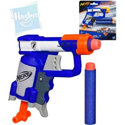 HASBRO NERF ELITE Kapesní dětská pistole N-Strike Jolt set se 2 náboji na kartě