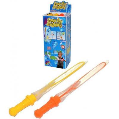 Bublifuk meč 50cm dětský bublifukovač 200ml velké bubliny 2 barvy