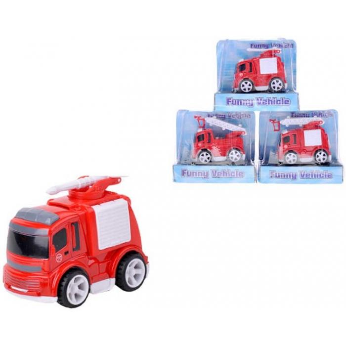 Auto hasičské na setrvačník Hasiči 8cm v krabičce
