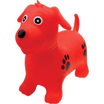 Baby hopsadlo nafukovací pejsek červený set skákadlo s pumpičkou