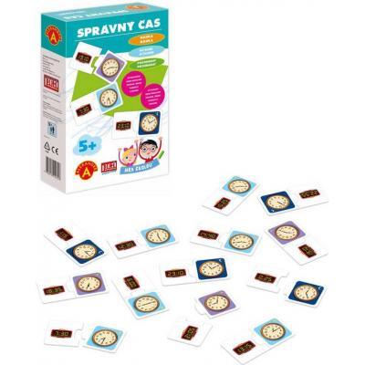 ALEXANDER Hra školou Správný čas naučná hra v krabici