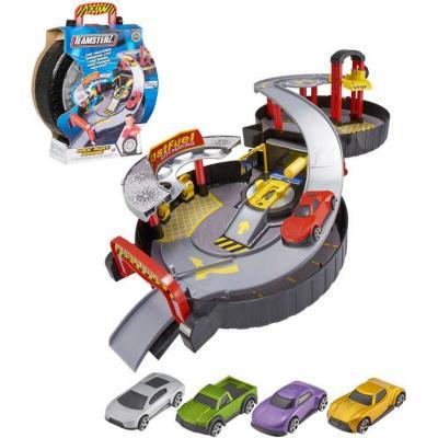 Teamsterz herní set garáž s autíčkem a doplňky v pneumatice v kufříku kov