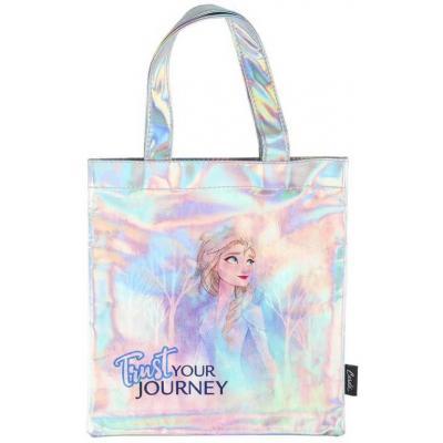 Taška holčičí duhová Frozen 2 (Ledové Království) 26×27cm