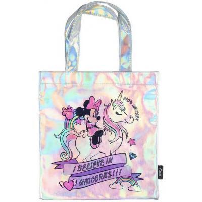 Taška holčičí duhová Disney Minnie a jednorožec 26×27cm