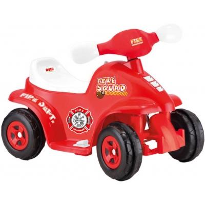 DOLU Čtyřkolka hasiči 6V elektrické vozítko s klaksonem pro děti