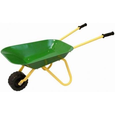 OLYMPTOY Dětské kolečko (kolečka) kovové zelené na zahradu