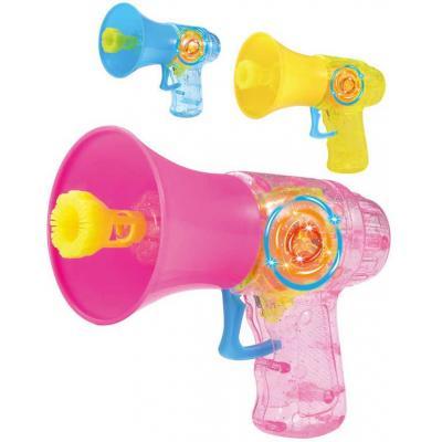 ET Bublifukovací pistole Megafon 50ml dětský bublifukovač set s náplní Světlo